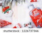 travel and vacation on winter... | Shutterstock . vector #1226737366