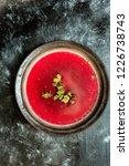 red beetroot soup   borscht | Shutterstock . vector #1226738743
