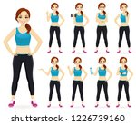 sport fitness woman in... | Shutterstock .eps vector #1226739160