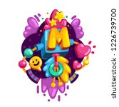 alphabet letter m vector color... | Shutterstock .eps vector #1226739700