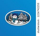 hello winter sticker vector... | Shutterstock .eps vector #1226742253
