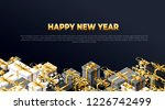 new year background 2019 place... | Shutterstock .eps vector #1226742499
