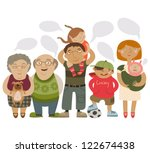 happy family | Shutterstock .eps vector #122674438