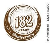 182 years anniversary.... | Shutterstock .eps vector #1226746000