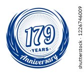 179 years anniversary.... | Shutterstock .eps vector #1226746009