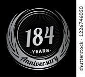184 years anniversary.... | Shutterstock .eps vector #1226746030