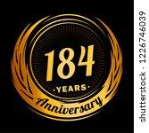 184 years anniversary.... | Shutterstock .eps vector #1226746039