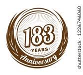 183 years anniversary.... | Shutterstock .eps vector #1226746060