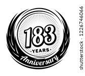 183 years anniversary.... | Shutterstock .eps vector #1226746066