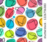 seamless background of... | Shutterstock .eps vector #1226756383