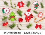 christmas composition decorated ... | Shutterstock . vector #1226756473