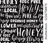 seamless pattern of honey... | Shutterstock .eps vector #1226758873