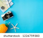 top view travel concept with... | Shutterstock . vector #1226759383