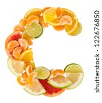 products containing vitamin c... | Shutterstock . vector #122676850