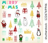 hand drawn set of christmas... | Shutterstock .eps vector #1226769946