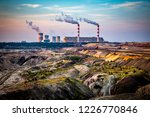 brown coal mine and power... | Shutterstock . vector #1226770846