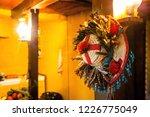 shaman ritual hat hanging on... | Shutterstock . vector #1226775049