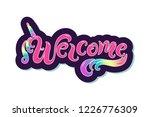 handwriting lettering welcome... | Shutterstock .eps vector #1226776309