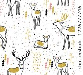 adorable seamless pattern with... | Shutterstock .eps vector #1226777746