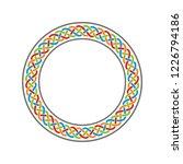 circle celtic knot meander art... | Shutterstock .eps vector #1226794186