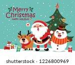vintage christmas poster design ... | Shutterstock .eps vector #1226800969