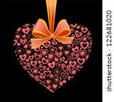 valentine's day composite heart ...   Shutterstock . vector #122681020