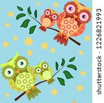 seamless pattern on the theme... | Shutterstock . vector #1226821993
