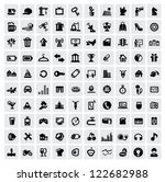 vector black 100 web icons set... | Shutterstock .eps vector #122682988