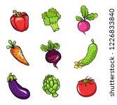 vector illustration set of... | Shutterstock .eps vector #1226833840