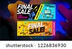 black friday sale banner ... | Shutterstock .eps vector #1226836930