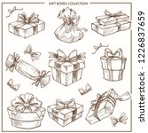 gift box collection presents... | Shutterstock .eps vector #1226837659