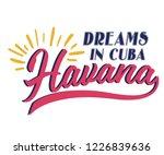 havana dreams in cuba varsity... | Shutterstock .eps vector #1226839636