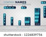 set signage. a set of... | Shutterstock .eps vector #1226839756