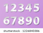 set of numbers in paper style.... | Shutterstock .eps vector #1226840386