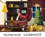 christmas and new years in... | Shutterstock .eps vector #1226844229