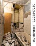 old bathroom interior before... | Shutterstock . vector #1226847250