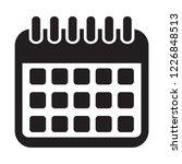 calendar icon. calendar on the... | Shutterstock .eps vector #1226848513