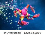 mexican pi ata party hanging on ... | Shutterstock . vector #1226851099