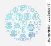 digital brain round vector blue ... | Shutterstock .eps vector #1226853946