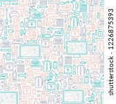 seamless pattern with old... | Shutterstock .eps vector #1226875393