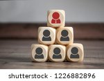 cubes with ceo team teamwork | Shutterstock . vector #1226882896