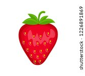 strawberry  vector illustration ... | Shutterstock .eps vector #1226891869