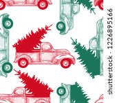 christmas truck with christmas... | Shutterstock .eps vector #1226895166