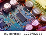 electronic circuit board close... | Shutterstock . vector #1226902396