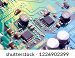 electronic circuit board close... | Shutterstock . vector #1226902399