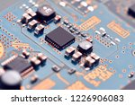 electronic circuit board close... | Shutterstock . vector #1226906083