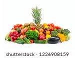 large set fruits and vegetables ... | Shutterstock . vector #1226908159