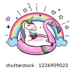 fantasy animal unicorn on... | Shutterstock .eps vector #1226909023