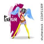 fashion girl sketch. stylish... | Shutterstock .eps vector #1226911309