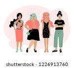 young fashion women  stylish...